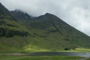 Glen Coe, mountain and house