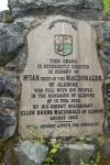 MacDonald Memorial Cross placque